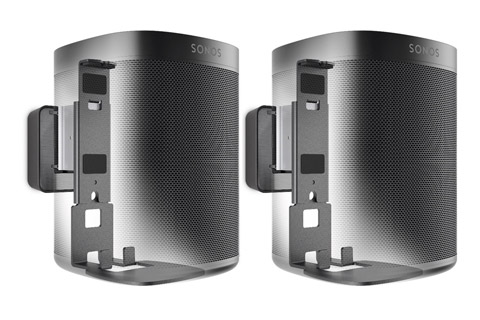 Sonos One - Dual pack with wallmount, black