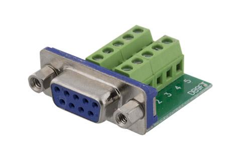 D-SUB 9 pin terminalblok
