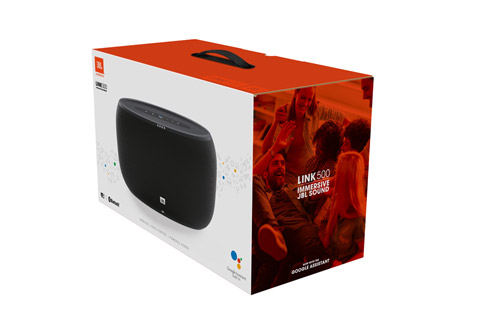 JBL Link 500 smart højtaler, sort