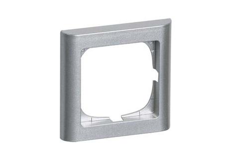 LK FUGA softline ramme, 1 modul, metallic