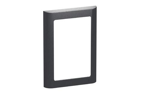 LK Softline design ramme, 1.5 modul, koksgrå