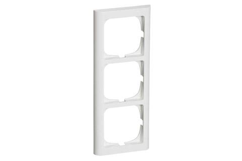 LK Softline 63 ramme, 3 modul, hvid