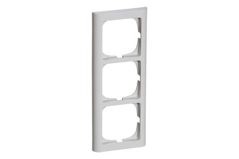 LK Softline 63 ramme, 3 modul, lysegrå