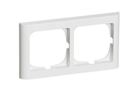 LK FUGA Softline ramme, 2 modul, vandret, hvid