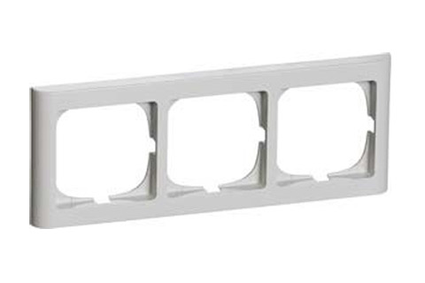LK FUGA Softline® Frame 63, 3 module horizontal (nr. 500D5230), light grey