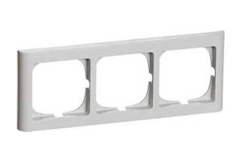 LK Softline 63, 3 modul vandret, lysegrå