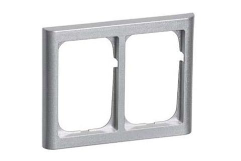 LK FUGA Softlone ramme 2x1.5 modul, metallic