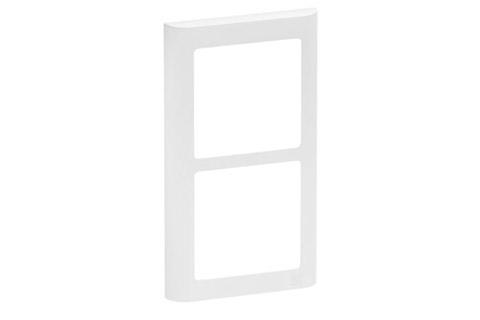 LK FUGA Softline designramme, 2x1 modul, hvid