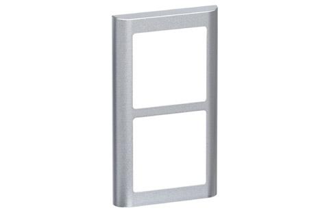 LK FUGA Softline designramme, 2x1 modul, alu sølv