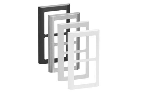 LK FUGA Softline designramme, 2x1 modul, alle farver