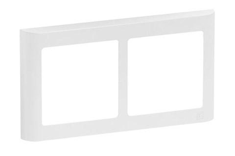 LK FUGA Softline designramme, 2x1 modu vandret, hvid