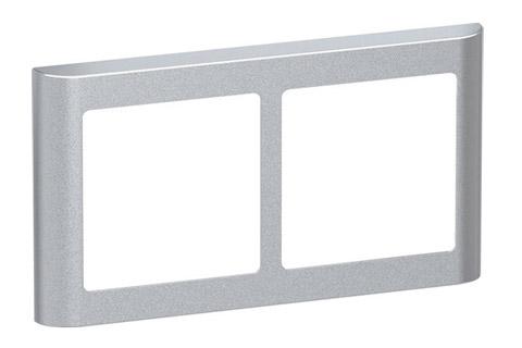 LK FUGA Softline designramme, 2x1 modu vandret, alu sølv