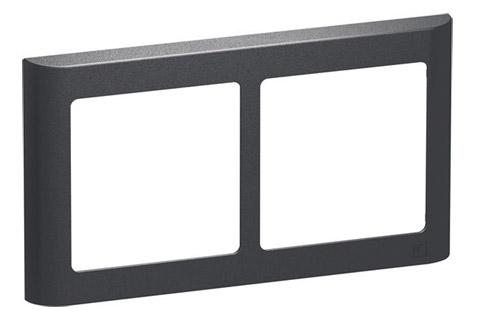 LK FUGA Softline designramme, 2x1 modu vandret, koksgrå