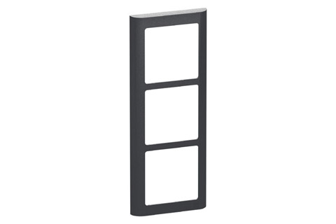 LK FUGA Softline® Design Frame 63, 3 module (no. 560D8030), charcoal grey
