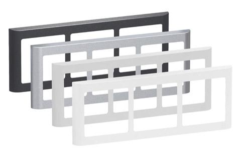 LK FUGA Softline Design ramme, 3x1 vandret modul, alle farver