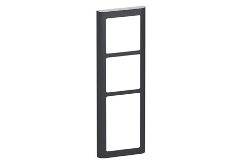 LK FUGA Softline® Design Frame 63, 3,5 module (no. 560D8035), charcoal grey