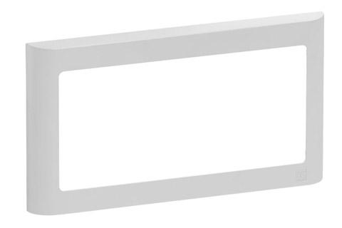 LK FUGA Softline designramme, 1x2 modul, lysegrå