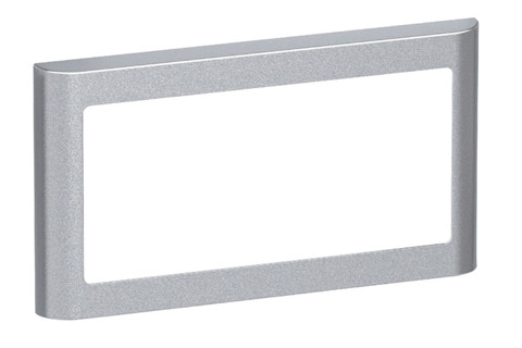 LK FUGA Softline designramme, 1x2 modul, alu sølv