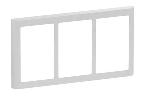 LK FUGA Softline designramme, 3x1,5 modul, lysegrå