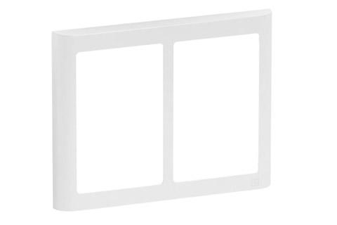 LK FUGA Softline Design ramme, 2x1,5 modul, hvid