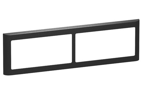 LK FUGA Softline® Design Frame 63, 2x2 module (no. 560D8340), charcoal grey
