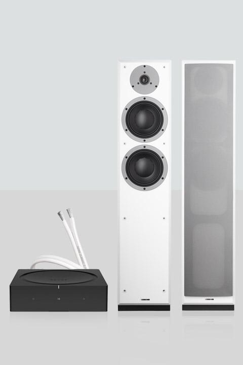 Sonos AMP inkl. Dynaudio Emit 30 højttalere, hvid