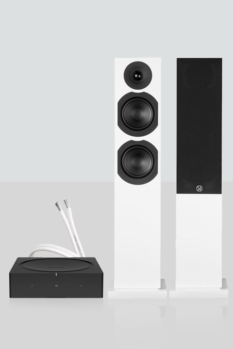 Sonos AMP inkl. Saxo 40 højttalere, hvid