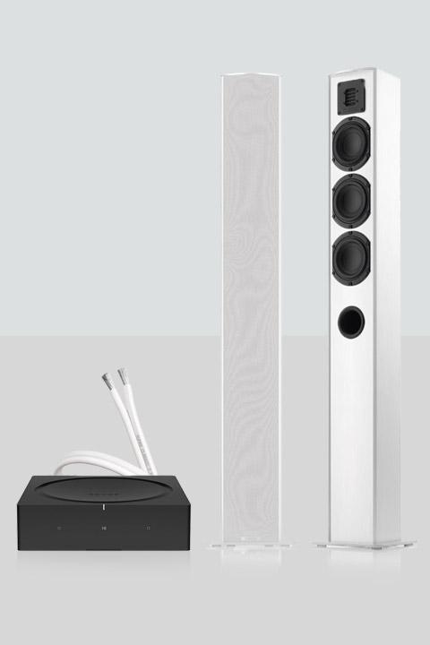 Sonos AMP inkl. TMicro 60 højttalere, hvid