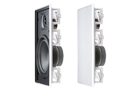 Inakustik AmbienTone Q1 in-wall speakers, white,  1 pair