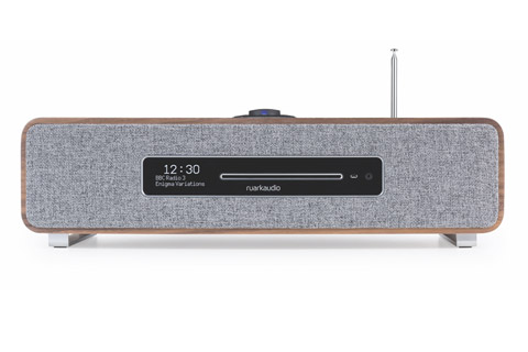 Ruark Audio R5 Music System with FM/DAB+ radio and CD-player, wood veneer, walnut