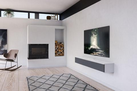 Unnu 13S AV design møbel, hvid