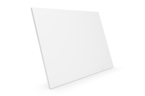 Clic D31 Large trælåge, hvid