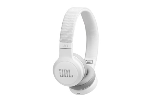 JBL LIVE400BT wireless on-ear headphones, white