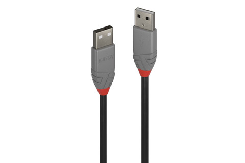 Lindy Anthra line USB 2.0 cable (USB type A male - A male), black, 0.20 meter