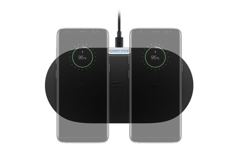 Goobay dual Qi charger - Top