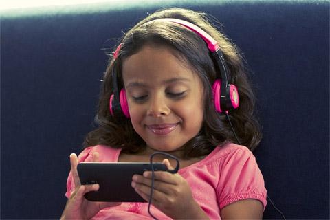 JLab Audio JBuddes kids headphone, pink