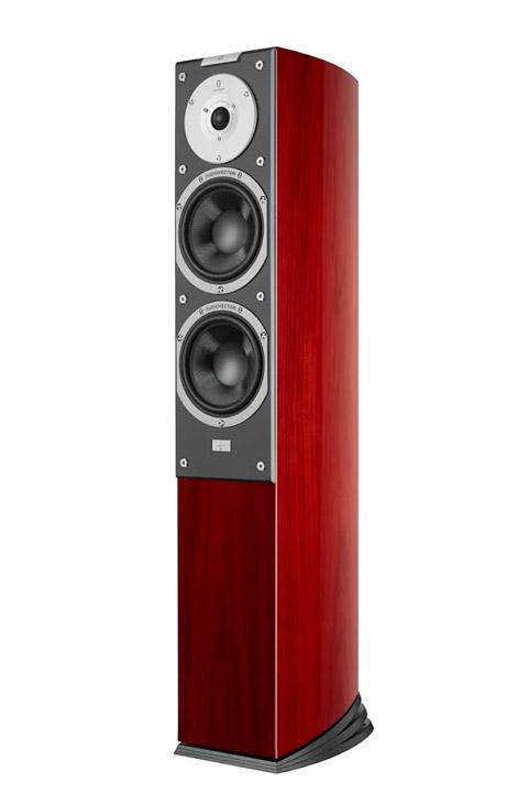 Audiovector R3 Signature gulv højtaler, træfinér, rosentræ
