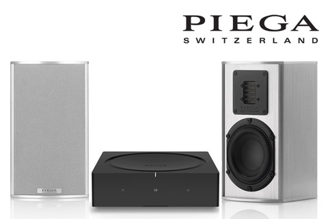 SONOS AMP + PIEGA Tmicro40 Alu silver