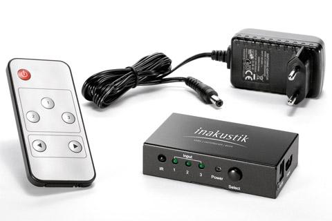 Inakustik Premium 3-way HDMI switch