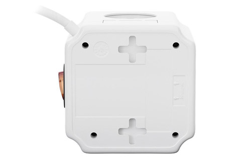 Goobay 4-way socket cube with switch and 2 USB ports - Buttom