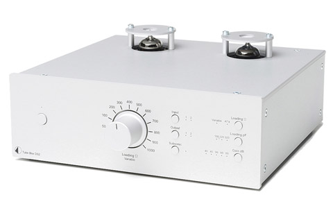 Pro-Ject Tube Box DS2 MM/MC RIAA for-forstærker, sølv