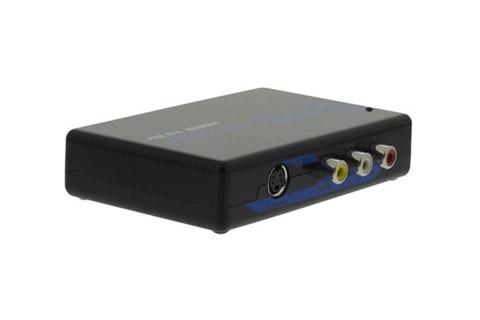 Konverter fra HDMI til S-video og Composite - Bagside