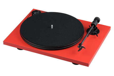 Pro-Ject Primary pladespiller, rød mat