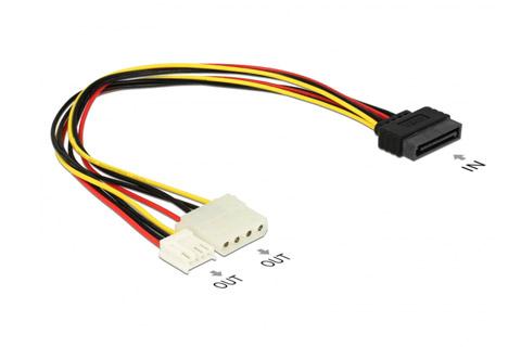Molex og 4 pin floppy til SATA