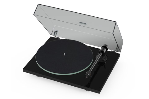 Pro-Ject T1 turntable, black high gloss