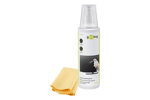 Goobay Skærmrensesæt, 250 ml spray + mikrofiberklud