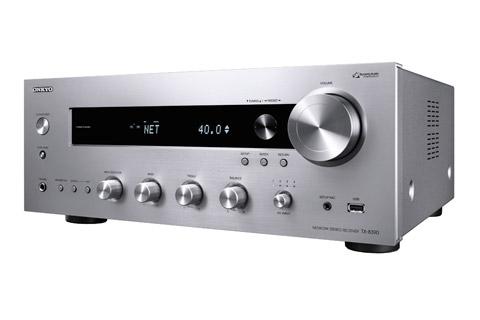 Onkyo TX-8390 stereo receiver, silver