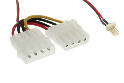 3 pin fan header til 4 pin Molex header