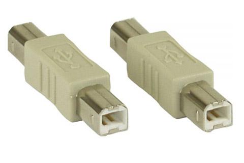 USB-B han til USB-B han adapter