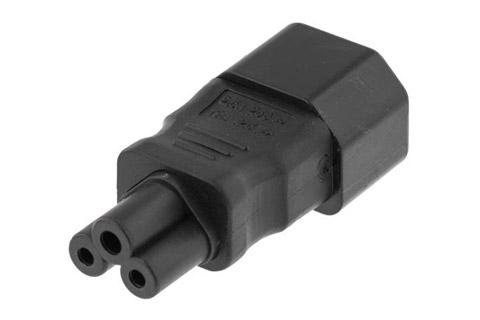 Apparatstik(C14) til Mickey Mouse(C5) adapter